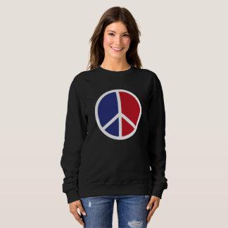 Peace And Love Sign Sweatshirt