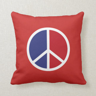 Peace And Love Sign Throw Pillow