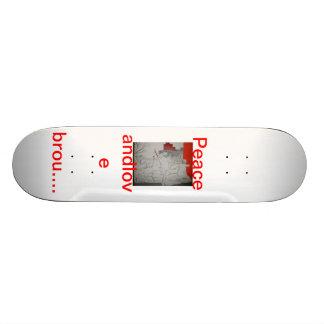 peace and love skate board