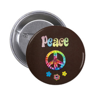 Peace and Love, the Sixties. 2 Inch Round Button