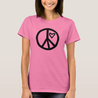 Peace and Love with Quote on Back T-Shirt
