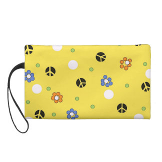 Peace and Polka Dots CUTE wristlet