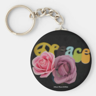 Peace and Roses-Keychain Keychain