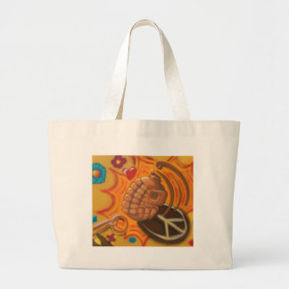 peace and war large tote bag