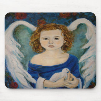 Peace Angel holding a Dove Mousepad