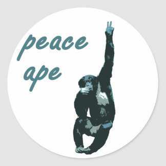 Peace Ape Lapel Sticker Sheet