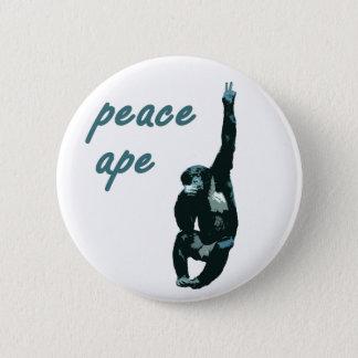 Peace Ape Metal Pinback Button