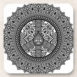 Peace Arabesque Cork Coaster