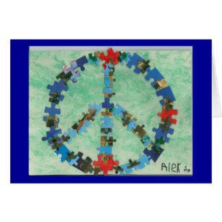 Peace Around The World Card