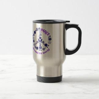 Peace Around The World Travel Mug