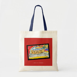 PEACE , at a distance  with an angle. Tote Bag