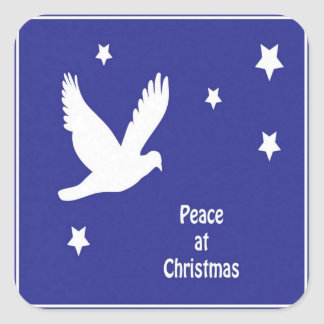 Peace At Christmas Square Sticker