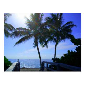 Peace at the beach postcard