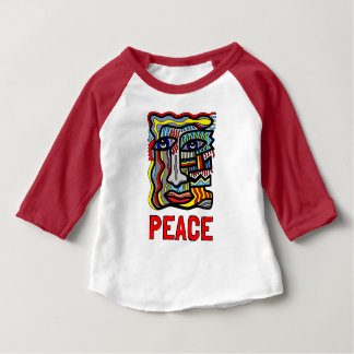 """Peace"" Baby 3/4 Raglan T-Shirt"