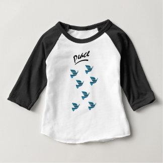 Peace Baby American Apparel 3/4 Sleeve Raglan Baby T-Shirt