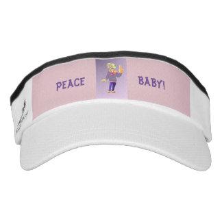 Peace Baby Custom Knit Visor