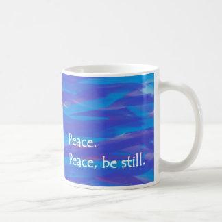 Peace, Be Still Basic White Mug