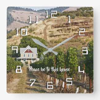 Peace be to this house square wall clock