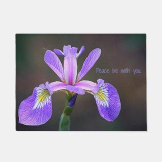 Peace be with You Iris Door Mat