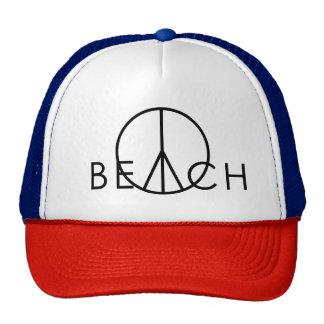 peace beach trucker hat