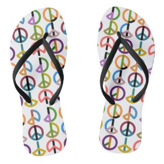 Peace Beat / Custom Adult, Slim Straps Flip Flops