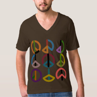 Peace Beat / Men's American Apparel Fine V-neck T-Shirt