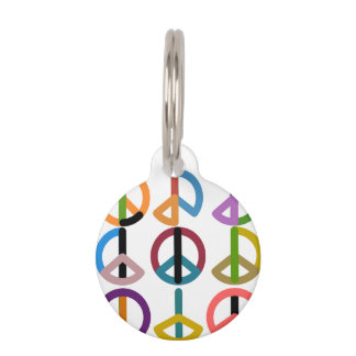 Peace Beat / Round Small Pet Tag