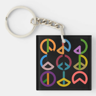 Peace Beat / Square (double-sided) Keychain