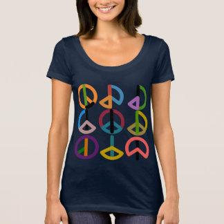 Peace Beat / Women's Next Level Scoop Neck T-Shirt