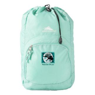 Peace Bee High Sierra Backpack, Aqua Blue