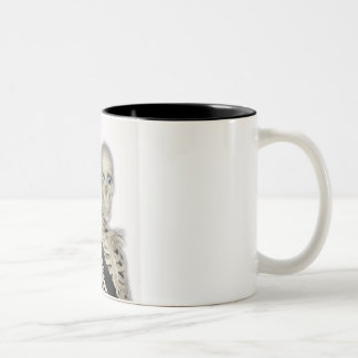 peace before it's to late Two-Tone coffee mug