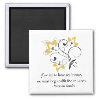 Peace Begins With The Children Magnet