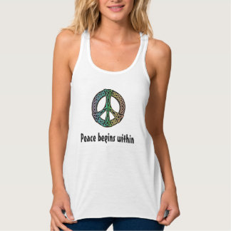 Peace Begins Within Celtic Chinese Peace Tank Top