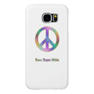Peace Begins Within Psychedelic Peace Sign Samsung Galaxy S6 Cases