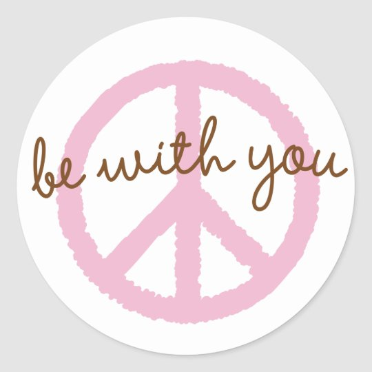 Peace-BeWithYou Classic Round Sticker
