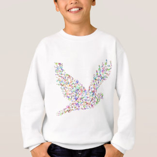 Peace bird flying in harmony and cooperation sweatshirt