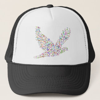 Peace bird flying in harmony and cooperation trucker hat