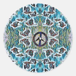 Peace Birds Classic Round Sticker