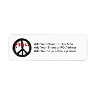 Peace Black and Red T-shirts and Gifts Return Address Label