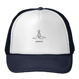 Peace - Black Fancy style Hats