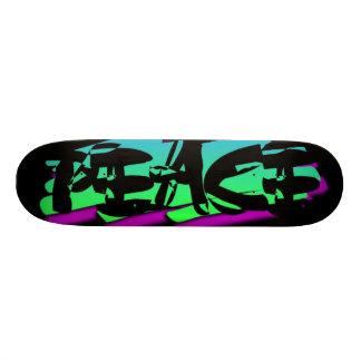 PEACE BLACK SKATEBOARD DECKS