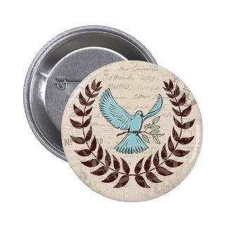 Peace Blue Dove Button