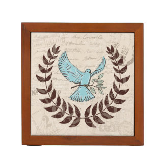 Peace Blue Dove Desk Organizer