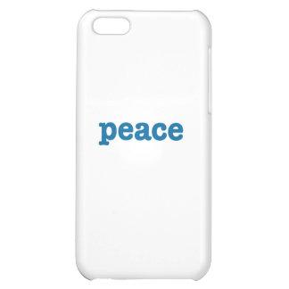 Peace (blue) iPhone 5C cases