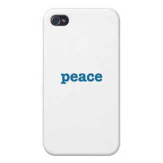 Peace (blue) iPhone 4/4S cases
