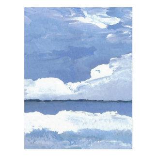 Peace Blue Ocean Seascape Sky CricketDiane Post Card