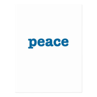 Peace (blue) postcard