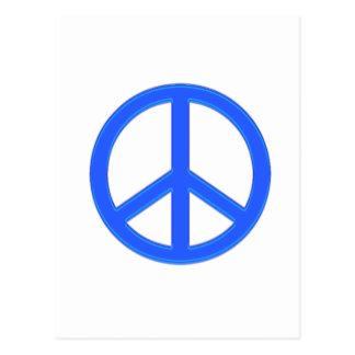 PEACE BLUE POSTCARD
