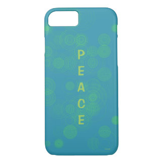 Peace Blue Yellow Circle Design iPhone 7 Case