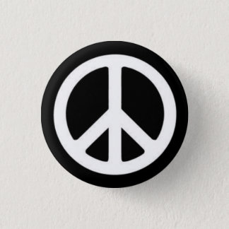 Peace BnW 1 Inch Round Button